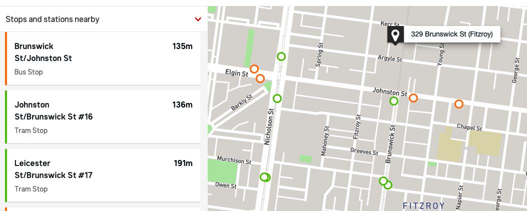 329 Brunswick Street Map